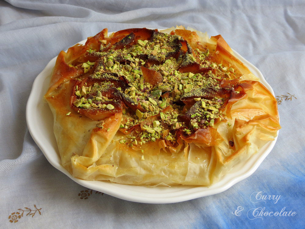 Milk phyllo pie