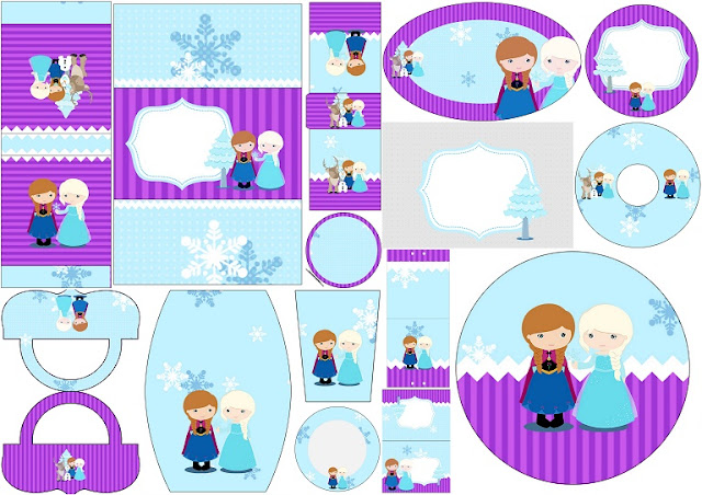 Frozen Babies in Christmas: Free Printable Candy Bar Labels.