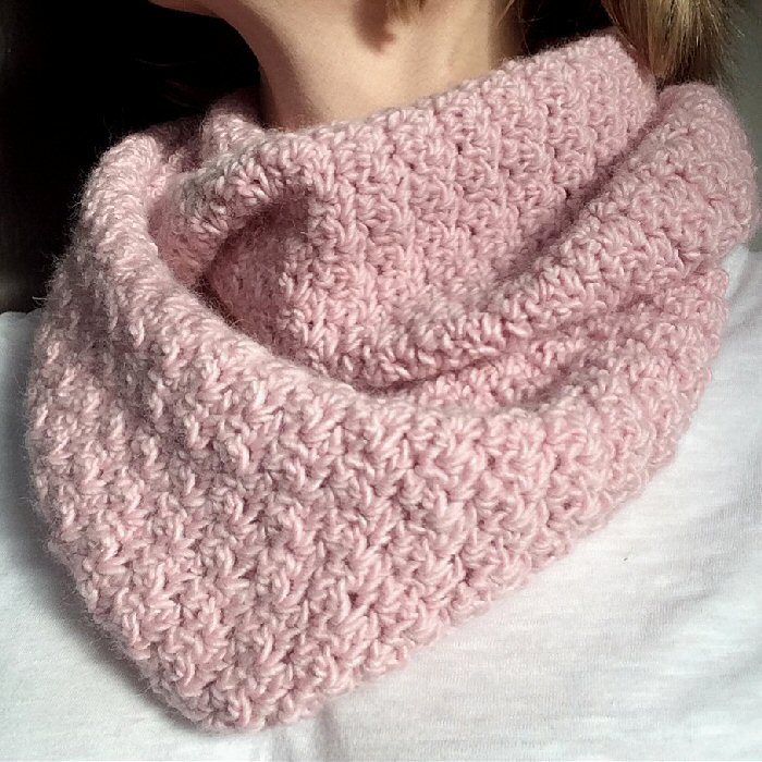 Chrissie Crafts Seed Stitch Infinity Scarf Pattern