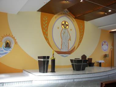 Restauração do painel e novo forro da comunidade N.Sra. Aparecida de Pirabeiraba SC
