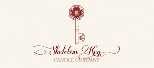 Skeleton Key Candle Co. logo creative design