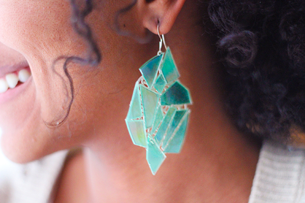 DIY kaleidoscope earrings