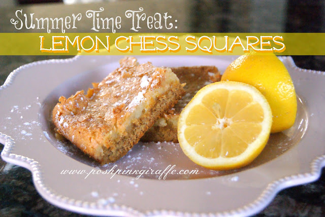 Lemon Chess Squares by Posh Pink Giraffe