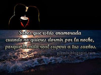 Cuando no quieres dormir ~ Frases de amor  ~ playa y amantes