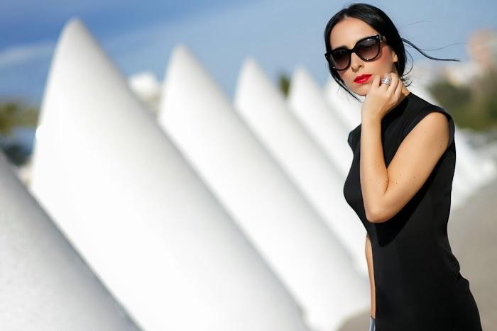 Vestido Bianca de CHRISTINE & CHRISTOPHE en la Ciudad de las Artes y las Ciencias en Valencia