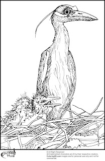 stork and the little babies coloring pages
