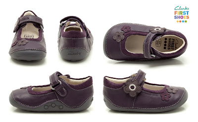 Clarks First Shoes Purple