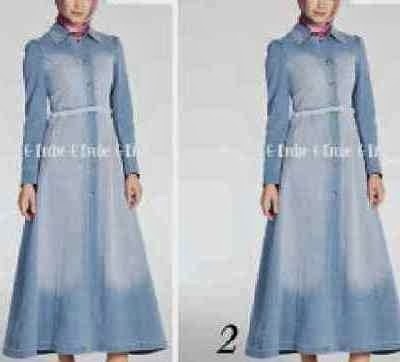 Gamis jeans washed 2014