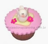 Mini Cupcake decorado com Pássaros para festa infantil Bela Adormecida