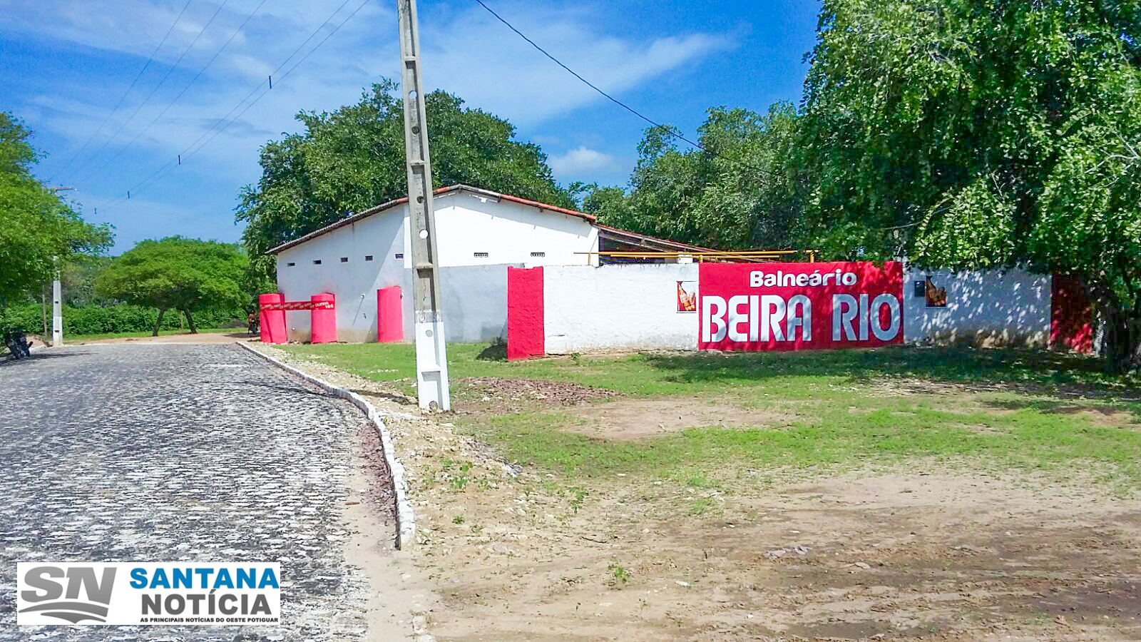 Balneário Beira Rio recebendo seus últimos ajustes para o Carnaval