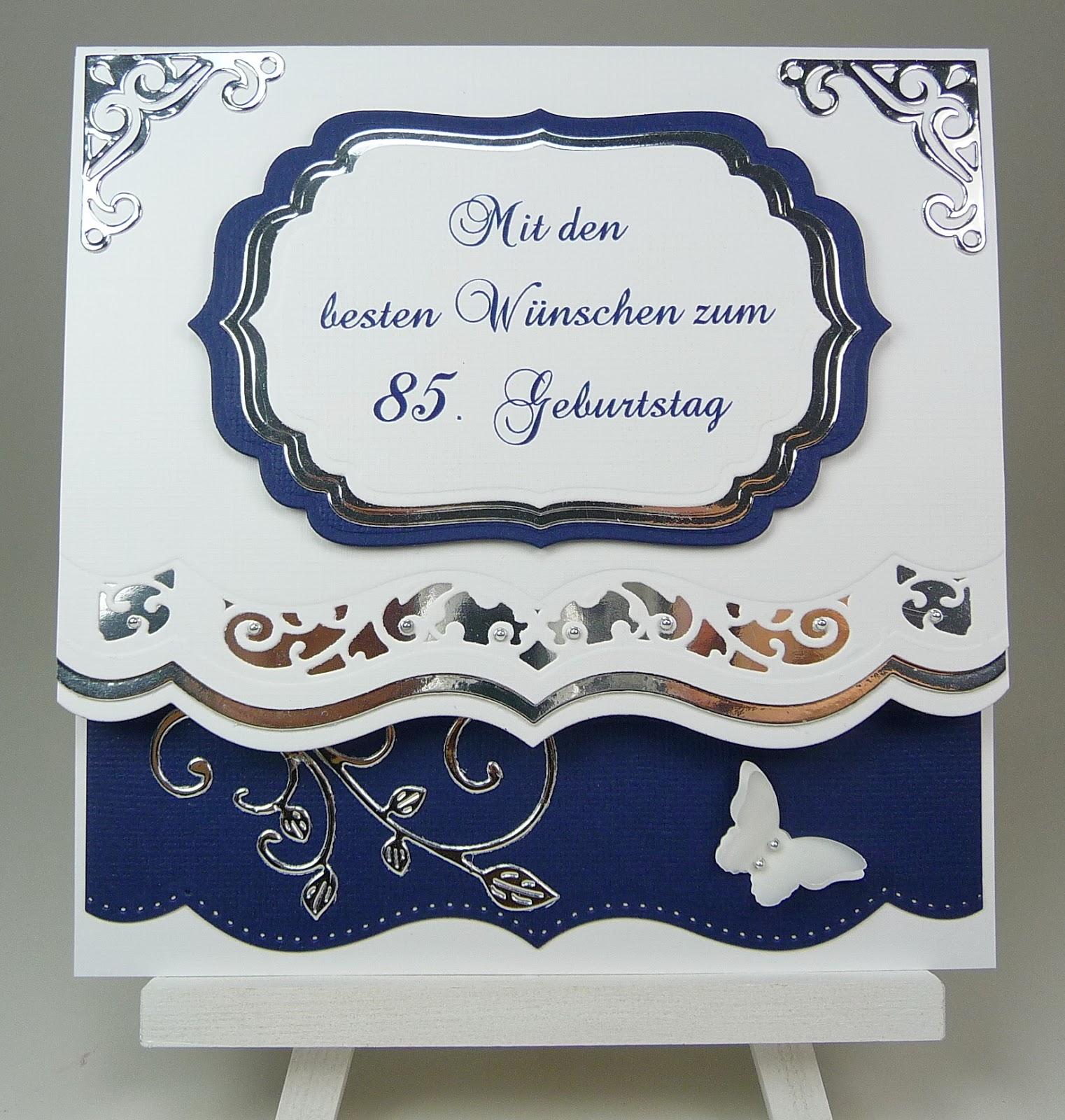 Karte zum 85 geburtstag elviras bastelstube - Geschenke zum 85 geburtstag ...
