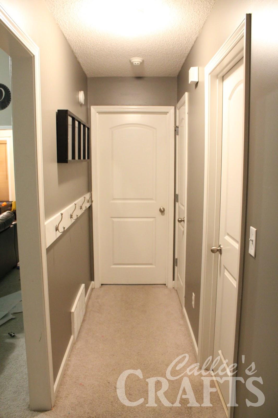 callie 39 s crafts hallway makeover. Black Bedroom Furniture Sets. Home Design Ideas