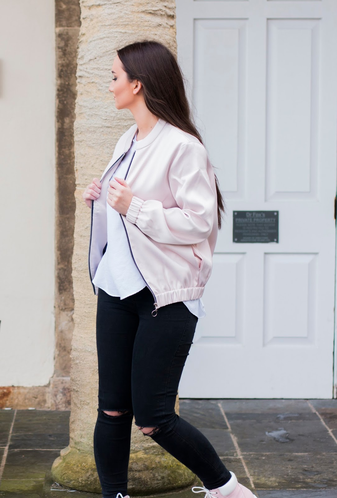 Pink Satin Bomber Jacket Another Eight