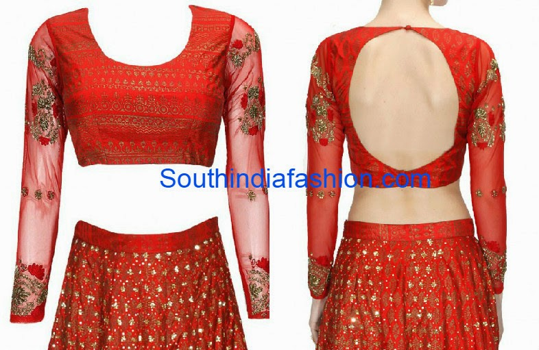 blouse with net sleeves