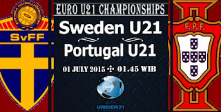 Portugal vs Swedia Final Euro U21 2015