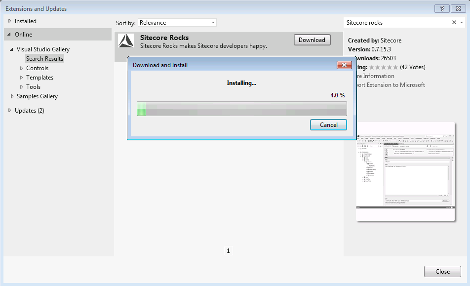 how to connect sitecore with visual studio