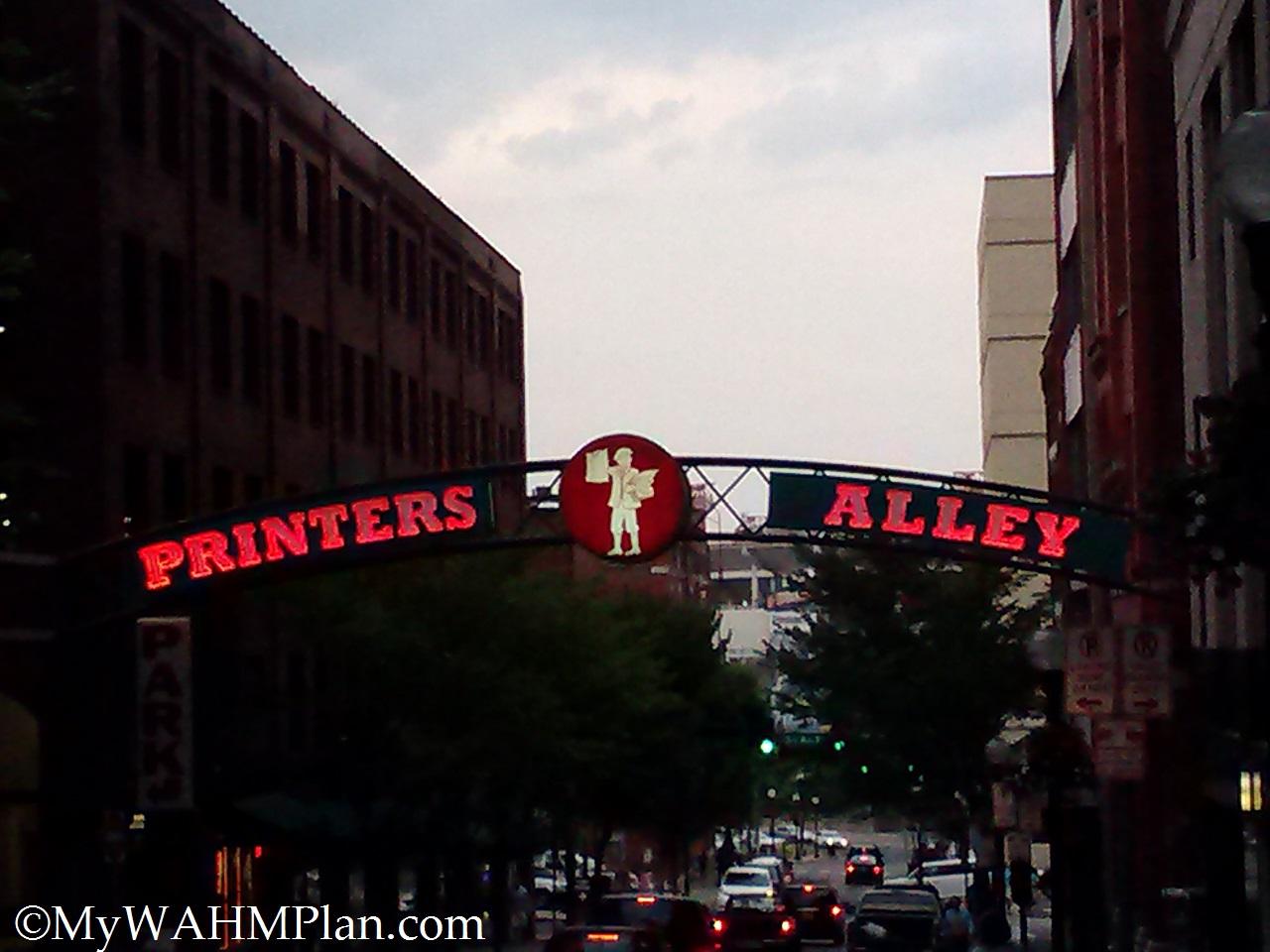 Printers Alley #Nashville