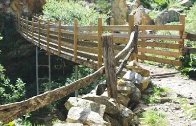 desfiladero de Los Arrudos, puente de La Calabaza