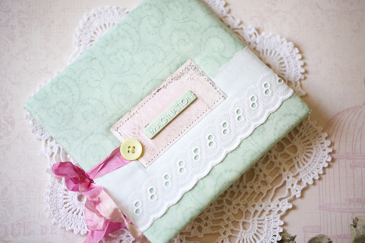 CD Case altered cover in shabby style by Evgenia Petzer using Madeleine collection