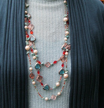Pink Calico: Necklace
