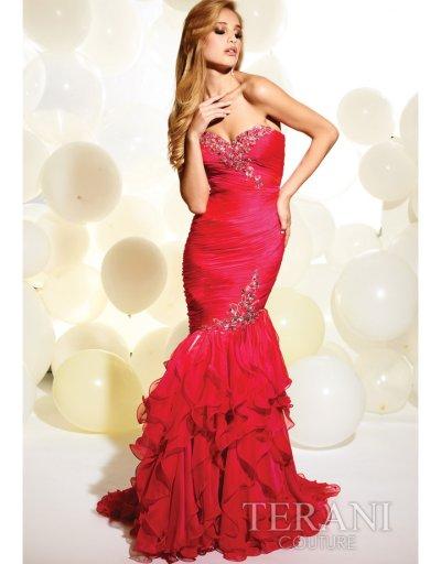 Amazing Red Hot Meerjungfrau Kleid 2013  trägerlosen Ausschnitt