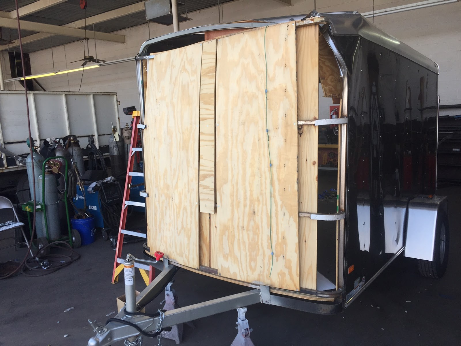 trailer roof bows vision cargo interior