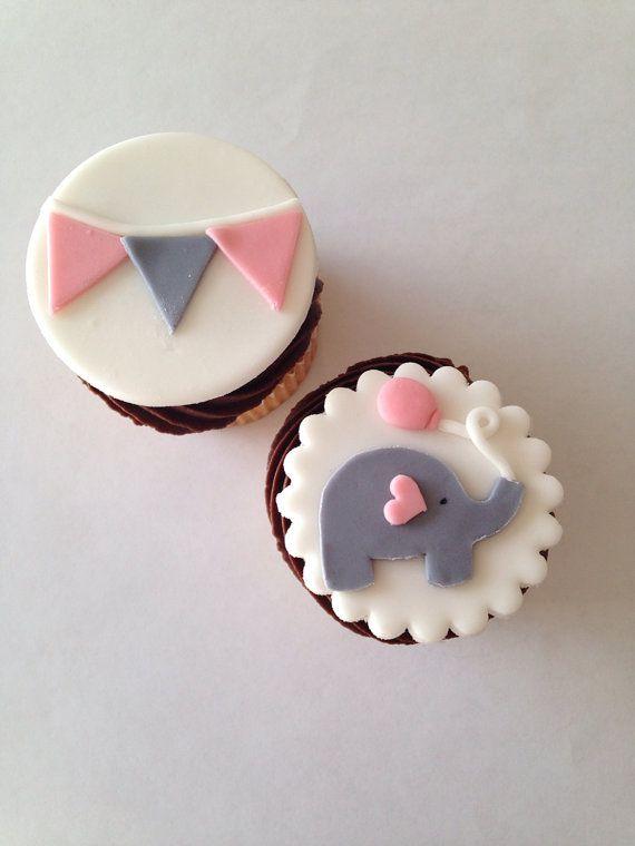 Flat Fondant Stork Baby Shower Cake