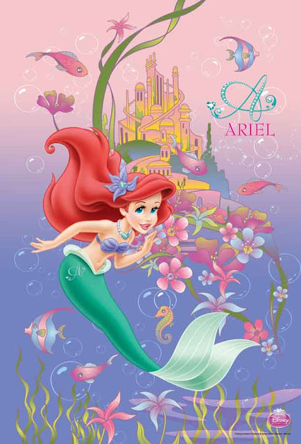 Ariel Little Mermaid Princes Poster