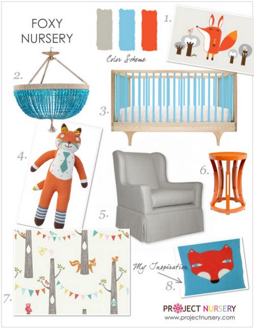 Room boy nursery baby room baby nursery babyroom fox room design