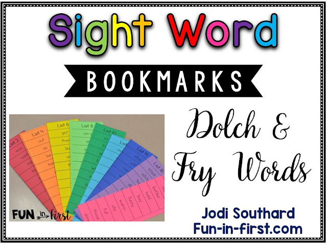 https://www.teacherspayteachers.com/Product/Sight-Word-Bookmarks-Dolch-Fry-2146221