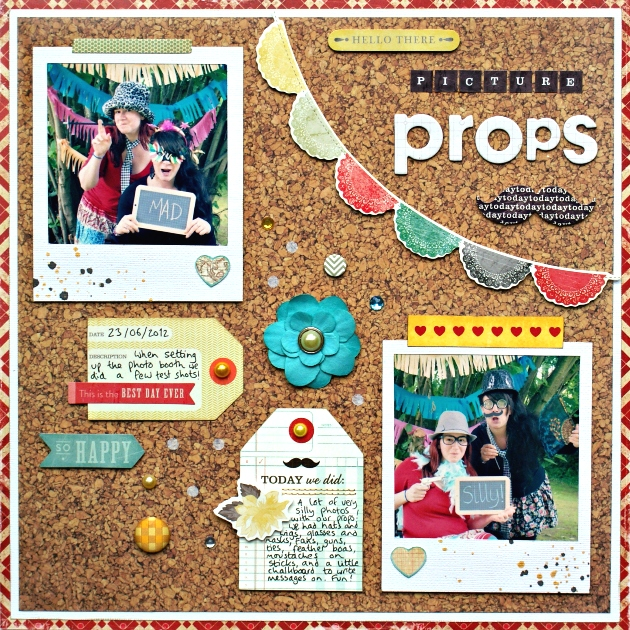 Picture Props - a Crate Paper Layout by Jennifer Grace