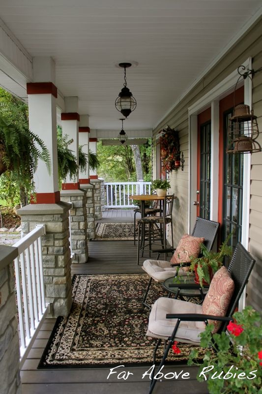 11fallporch19 Cottage in the Mountains of Western North Carolina home tour