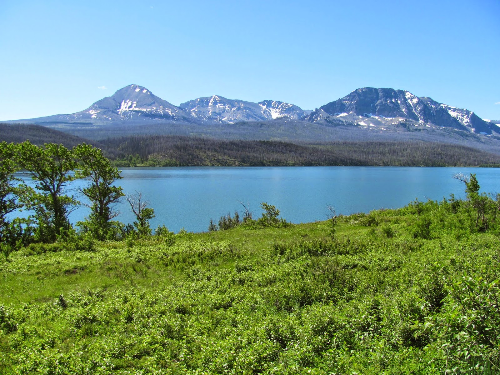 St. Mary Lake is mighty blue at Glacier National Park in Montana