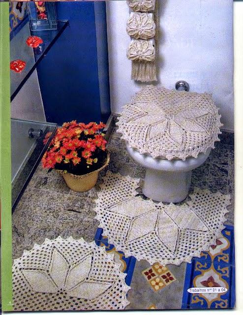 Decoracion De Baños Tejidos A Crochet:dulcescreacionesdeary: juego de baño a crochet