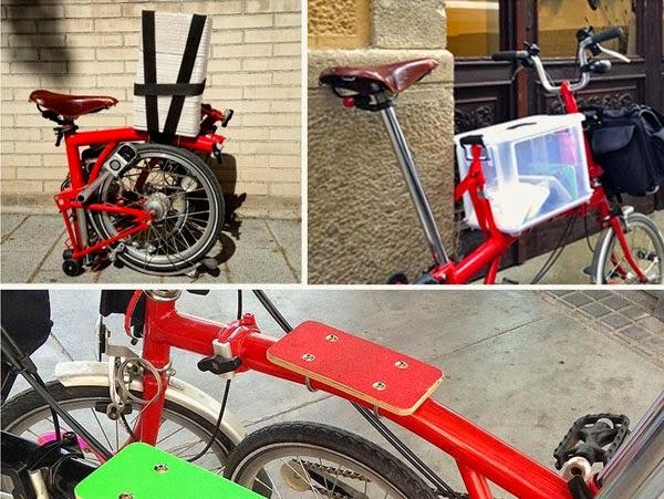 StandupforBrompton, accesorio y plataforma de carga para bicicletas Brompton