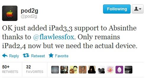 iPad 3 untethered ios 5.1.1