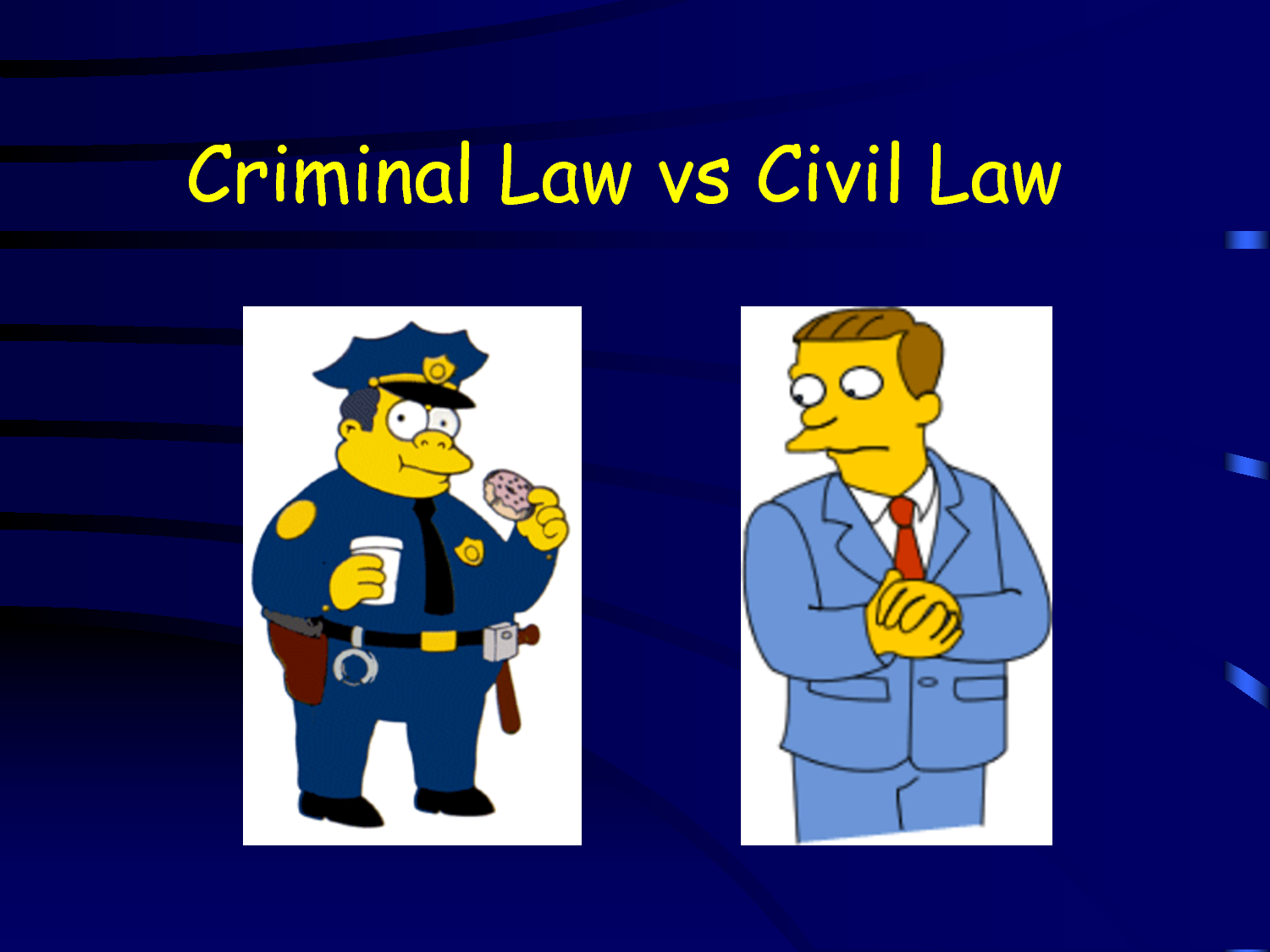 criminal law vs civil law Civil law vs criminal law civil law vs criminal law this is an advance summary of a forthcoming entry in the encyclopedia of law please check back later for the full entry.