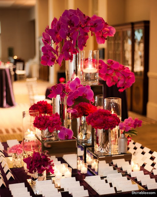 What you make it a purple and fuschia wedding