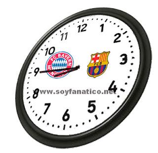 A que hora juegan Barcelona y Bayern Munich 2013