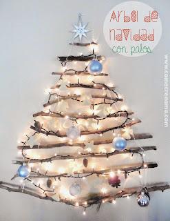 Arbol de Navidad con Palos