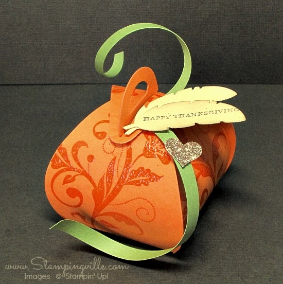 "Super cute ""pumpkin"" box for Thanksgiving table 