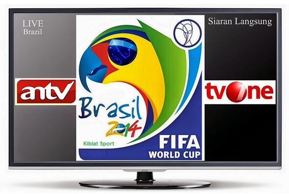 Jadwal Siaran Langsung Piala Dunia 2014 ANTV Dan TVONE
