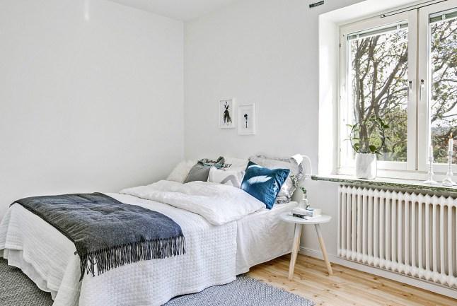 Inspiración deco: un piso de 72 metros cuadrados totalmente blanco ...