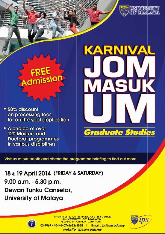 UM Graduate Studies Fair: Karnival Jom Masuk UM