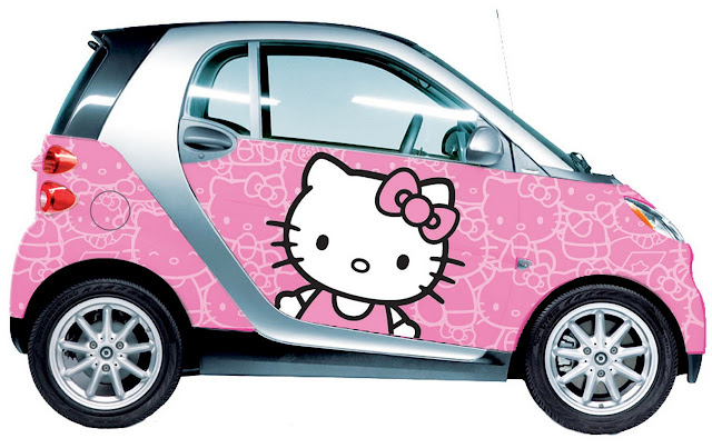 Hello Kitty,  Smart Car, Sanrio