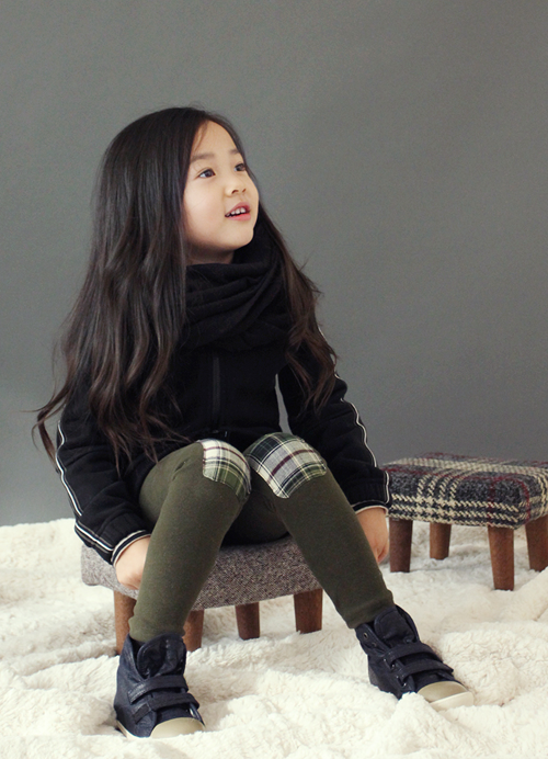 Korean Children's Knee Patch Leggings