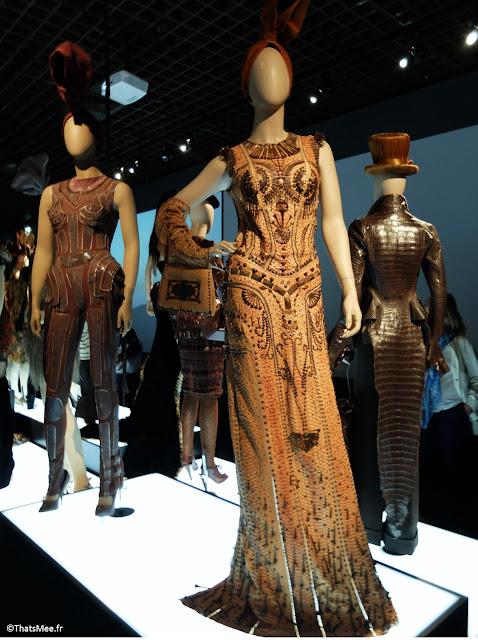 matière nobles cuir travail robes haute-couture Hermès Jean-Paul Gaultier, expo JPG Grand Palais Paris