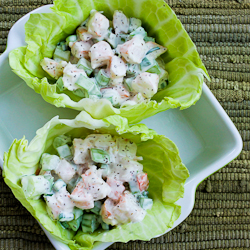 shrimp salad cabbage cups makes about 8 10 cabbage cups