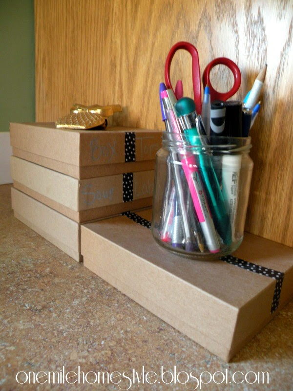Countertop office supply storage and organization