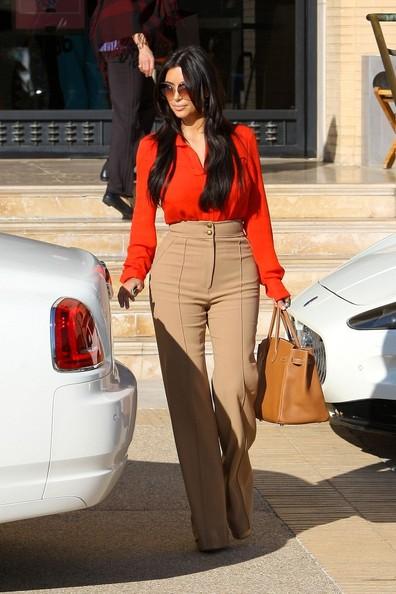 kim kardashian calca cintura alta